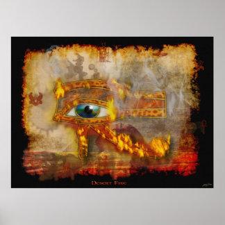 Auge Horus des heiligen ägyptischen Kunst-Plakats Poster