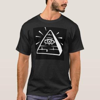Auge in der Pyramide - Schwarzes T-Shirt