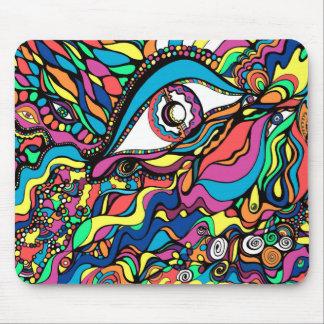 Auge-knallende abstrakte Kunst Mousepad