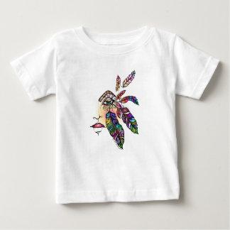 AUGE Liebe VERSIEHT Fantasie-Kunst mit Federn Baby T-shirt