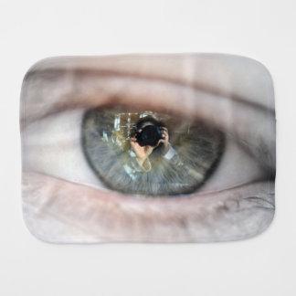 Auge-Makro durch Shirley Taylor Baby Spucktuch
