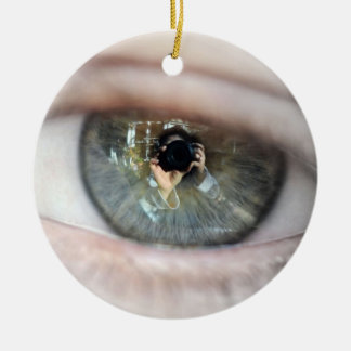 Auge-Makro durch Shirley Taylor Keramik Ornament
