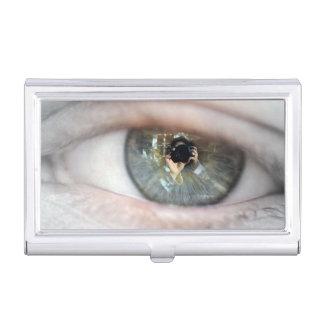 Auge-Makro durch Shirley Taylor Visitenkarten Etui