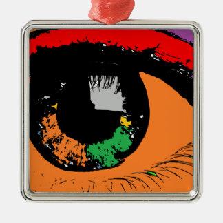 Auge Silbernes Ornament
