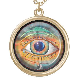 Auge von Ra Halskette Mit Rundem Anhänger