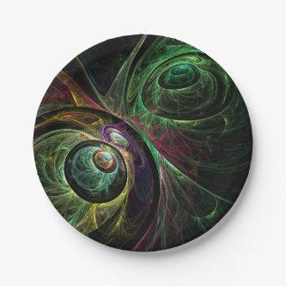 Auge, zum der abstrakten Kunst zu mustern Pappteller