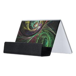 Auge, zum der abstrakten Kunst zu mustern Schreibtisch-Visitenkartenhalter