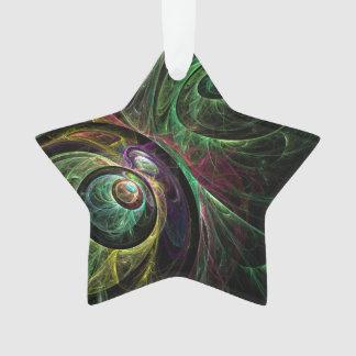Auge, zum des abstrakten Kunst-Acryl-Sternes zu Ornament