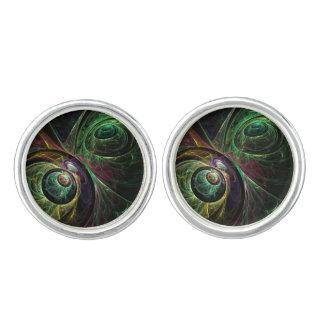 Auge, zum des abstrakten Kunst-Silbers zu mustern Manschetten Knöpfe