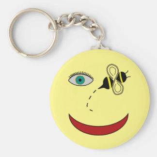 Augen-Biene glücklich Schlüsselanhänger