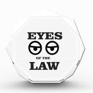 Augen des Gesetzes ja Acryl Auszeichnung