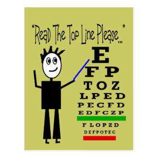 Augen-Diagramm-Augenarzt-Entwurfs-Geschenke Postkarte