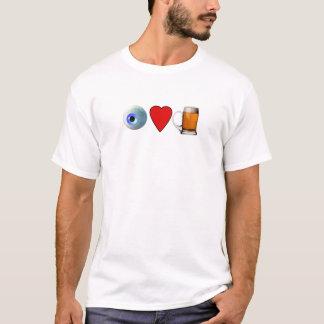 Augen-Herz-Bier (i-Liebe-Bier) T-Shirt