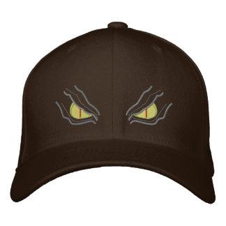 Augen in der Dunkelheit Bestickte Kappe