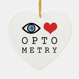 Augen-Liebe-Herz-Optometrie - Keramik Ornament
