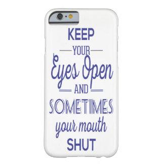 Augen öffnen sich barely there iPhone 6 hülle