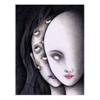 Augen Postkarte