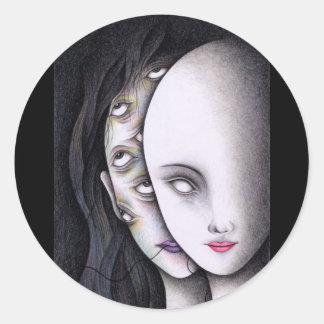 Augen Runder Aufkleber