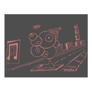 Augen-Spion einzigartig Postkarte
