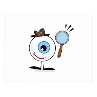 Augen-Suche Postkarte