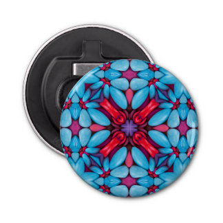 Augen-Süßigkeits-Kaleidoskop-   magnetische Runder Flaschenöffner