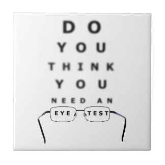Augen-Test-Diagramm Fliese