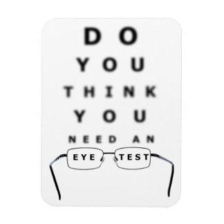 Augen-Test-Diagramm Magnet
