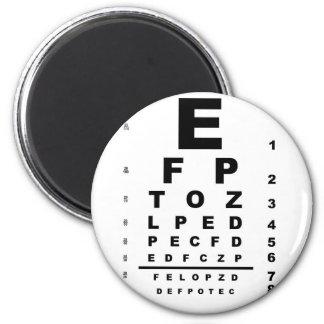 Augen-Test-Diagramm Runder Magnet 5,1 Cm