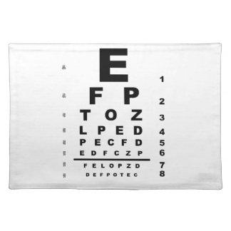 Augen-Test-Diagramm Stofftischset