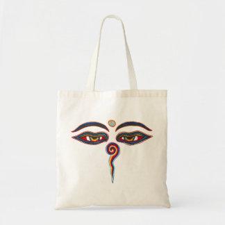 Augen von Buddha/Augen der Weisheit Budget Stoffbeutel