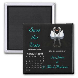 August 2009 Save the Date, Wedding Mitteilung Quadratischer Magnet