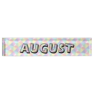 August-Alphabet-Diamant-Schimmer Namplate durch