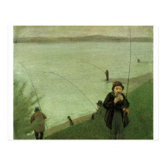 August_Macke - Angler auf Rhein - Fisher-Fluss Postkarten