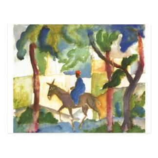 August Macke - Esel-Reiter Eselreiter 1914 Postkarten