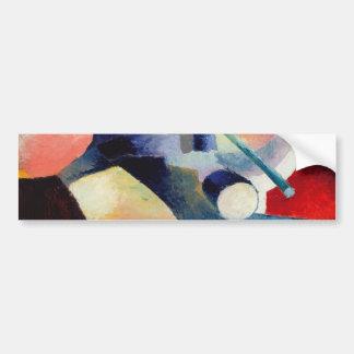 August Macke - farbige Zusammensetzung der Formen Autoaufkleber