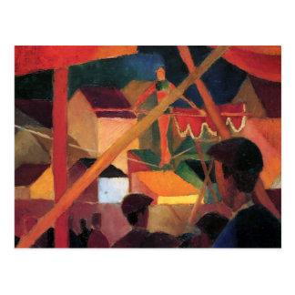 August Macke - Tightrope-Wanderer Postkarte