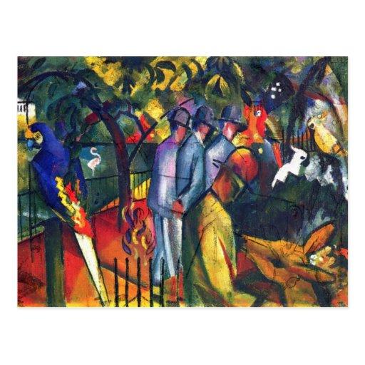 August Macke - zoologischer Garten I Postkarte