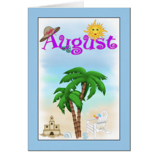 August-Strand-Gruß-Karte Karte