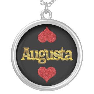 Augusta-Halskette Versilberte Kette