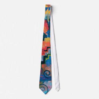 Auguste Macke - Ehrerbietung zu Bach abstrakter Bedruckte Krawatte