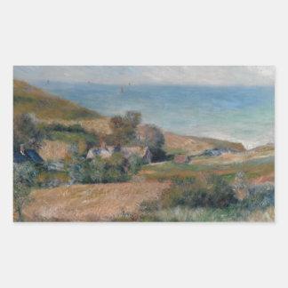 Auguste Renoir - Ansicht der Seeküste Rechteckiger Aufkleber