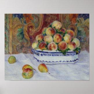 Auguste Renoir - Stillleben mit Pfirsichen Poster