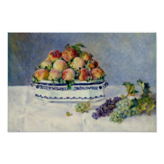 Auguste Renoir - Stillleben mit Pfirsichen und Poster