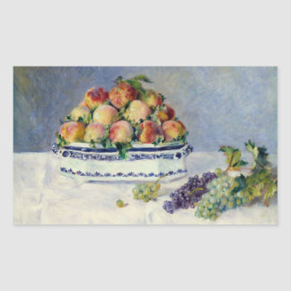Auguste Renoir - Stillleben mit Pfirsichen und Rechteckiger Aufkleber