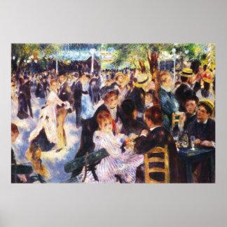 AUGUSTE RENOIR - Tanz an La Galette Le Moulin de Poster