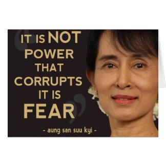 Aung San Suu Kyi Karte