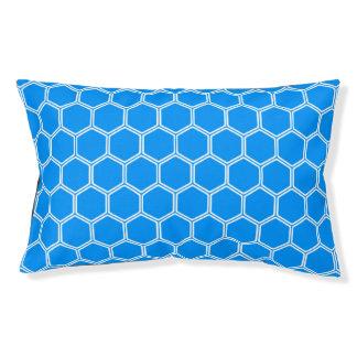 Auqa blaues Hexagon1 Haustierbett
