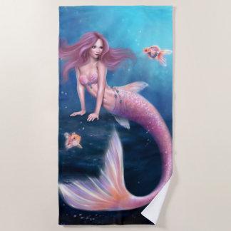 Aurelia Goldfisch-Meerjungfrau Strandtuch