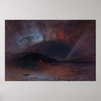 Aurora Borealis durch Kirche Frederic Edwin Plakat