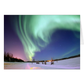 Aurora Borealis Gruß-Karten Karte